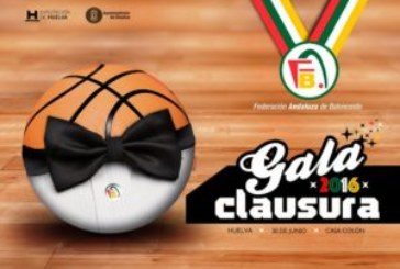 Gala de clausura y entrega de premios temporada 2015/2016 de FAB Huelva