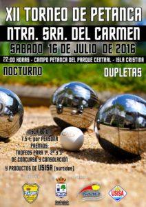 Isla Cristina Celebra el XII Torneo de Petanca Virgen del Carmen