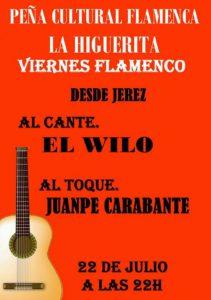"""Jorge Rodríguez """"Wilo"""", este viernes en la Peña Flamenca """"La Higuerita"""""""