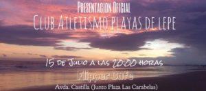 Presentación pública del nuevo Club de Atletismo «Playas de Lepe»