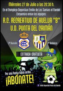 El Punta del Caimán juega su primer amistoso de pretemporada en Isla Cristina