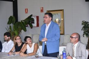 160727. Alfonso Vargas, catedrático de la Universidad, se felicitaba porque el modelo de hacer negocio que logró traer hasta Huelva esté funcionando