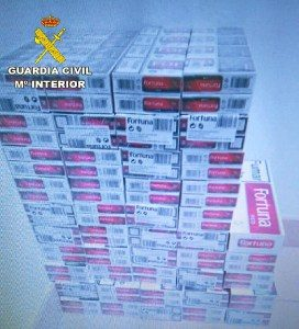 Intervenidas 838 cajetillas de tabaco de contrabando en Isla Cristina y Lepe