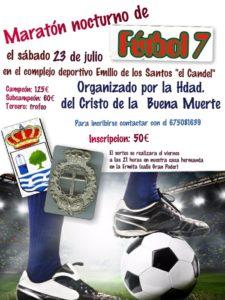 2º Maratón de Fútbol 7 en isla, a Beneficio del Paso del Cristo de la Buena Muerte