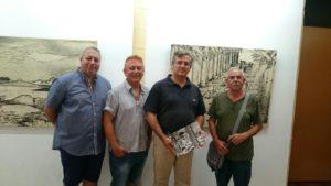 La obra de Manuel Garcés 'Lolín', expuesta en la Galería de Arte 'Pintora Charo Olías'