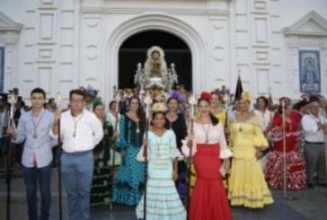 Ofrenda de flores de la Hermandad del Rocío a la Virgen del Carmen