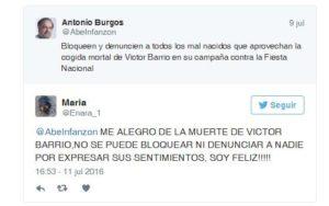 Los mensajes contra el torero Víctor Barrio, investigados