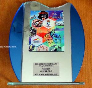 Andrés Guerrero (C.A. Isla Cristina) Recibe Mención en la Gala del Deporte de Lepe