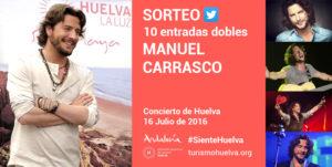 El Patronato de Turismo sortea entradas para el concierto de Manuel Carrasco del 16 de julio