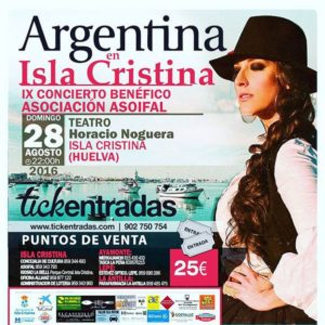 Argentina en el IX Concierto benéfico Asoifal de Isla Cristina