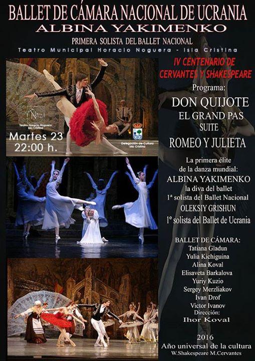 El Ballet de Cámara Nacional de Ucrania se Presenta en Isla Cristina