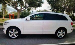 Denuncian el robo de un Audi Q7 blanco en Isla Cristina