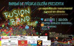 """Francisco de la Poza se despide de la dirección de la banda de música isleña con su espectáculo """"Fusión Band"""