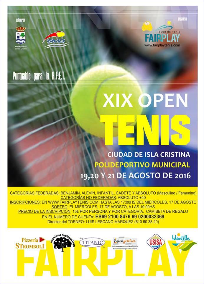 XIX Open de Tenis Ciudad de Isla Cristina
