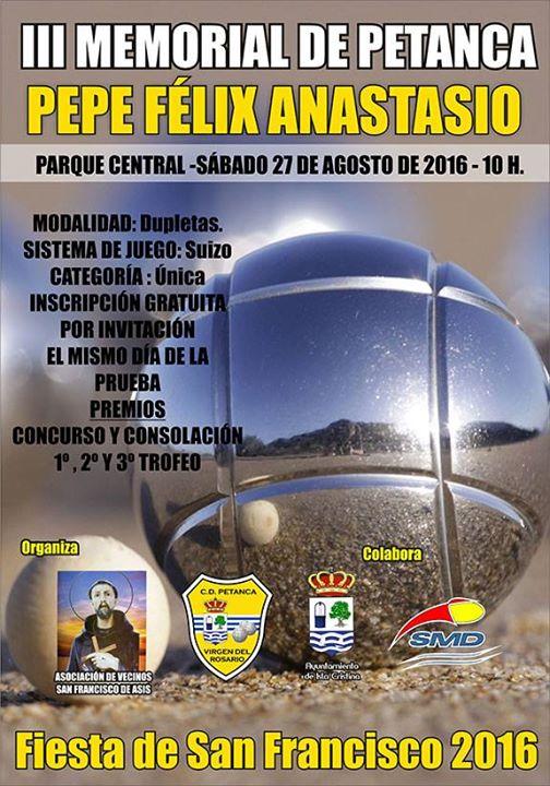 III Torneo de Petanca Memorial Pepe Félix Anastasio