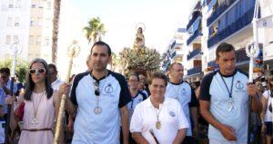 La Procesión de la Virgen del Mar ponen el punto y final a las fiestas de la Punta del Caimán de Isla Cristina