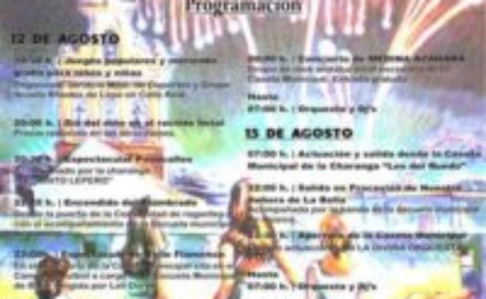 """Programación Fiestas de la Bella y San Roque 2016 """"Lepe"""""""