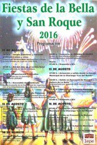 Programación Fiestas de la Bella y San Roque 2016 «Lepe»