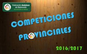Abierto el plazo de inscripción para las competiciones provinciales 2016/2017 de Baloncesto
