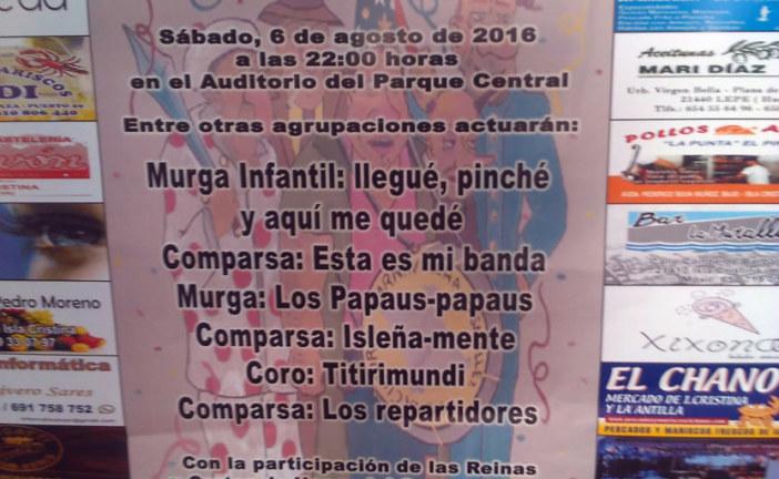 "Noche de Carnaval en Isla Cristina con el ""Memorial Juan Andrés Pardo Penalva"""