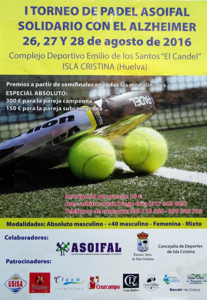 I Torneo de Pádel Asoifal Solidario con el Alzheimer en Isla Cristina