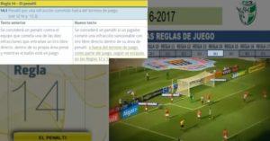 Estudio de las 17 reglas de juego en fútbol para la temporada 2016-2017
