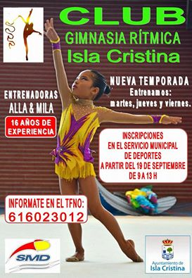 Abierto el plazo de inscripciones del Club Gimnasia Rítmica Isla Cristina