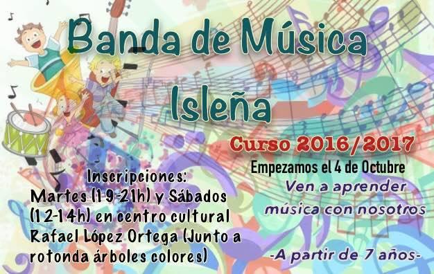 Inscríbete en la Banda de Música Isleña