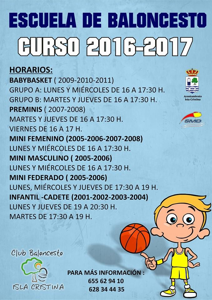 En Marcha la Escuela del Club Baloncesto Isla Cristina