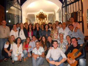 Hermosa Plegaria en la Hermandad del Rocío de Isla Cristina en recuerdo a Pepe Reina