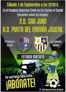 Isla Cristina acoge el amistoso de juveniles entre la UD Punta del Caimán (VS) CD San Juan