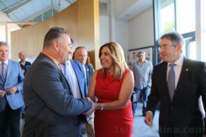 La presidenta de la junta inaugura el IX Congreso de Geología en la Universidad de Huelva