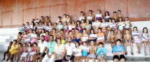 Clausurados los cursos de verano de natación en Isla Cristina