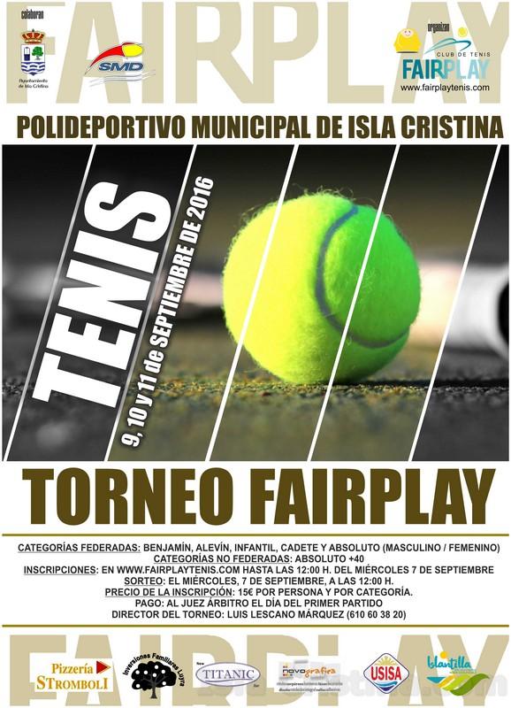 Torneo de Tenis 'FairPlay' 2016