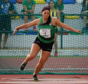 La atleta isleña Estela Cazorla Compite en la Copa de Europa Júnior