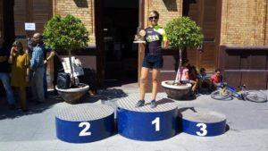 La isleña Raquel Pérez, Campeona en la I Media Maratón Nacimiento del Río Tinto