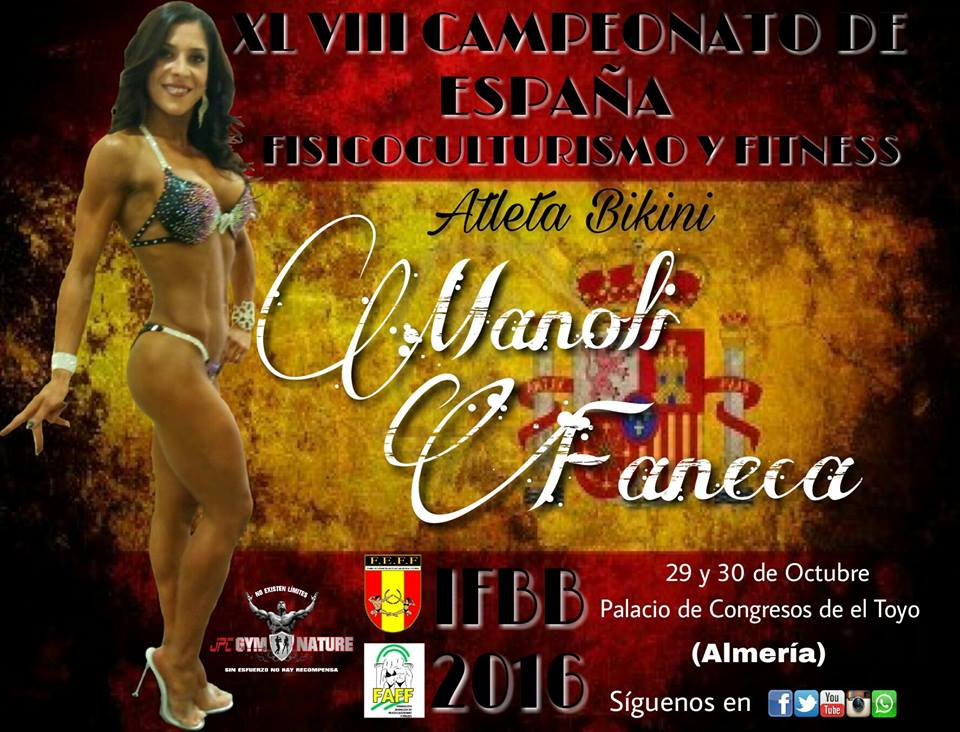 La isleña Manoli Faneca a por el Campeonato de España Fisicoculturismo y Fitness