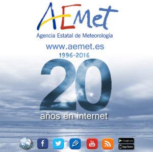 La página web de AEMET cumple 20 años