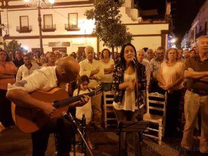 Alba Casado Cantó la Salve Rociera de Isla Cristina