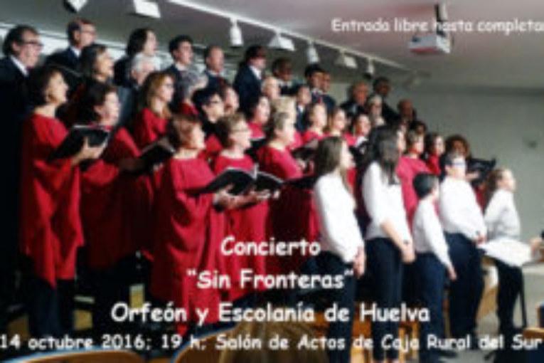 Concierto 'Sin fronteras' del Orfeón y Escolanía de Huelva este viernes en Caja Rural de Sur