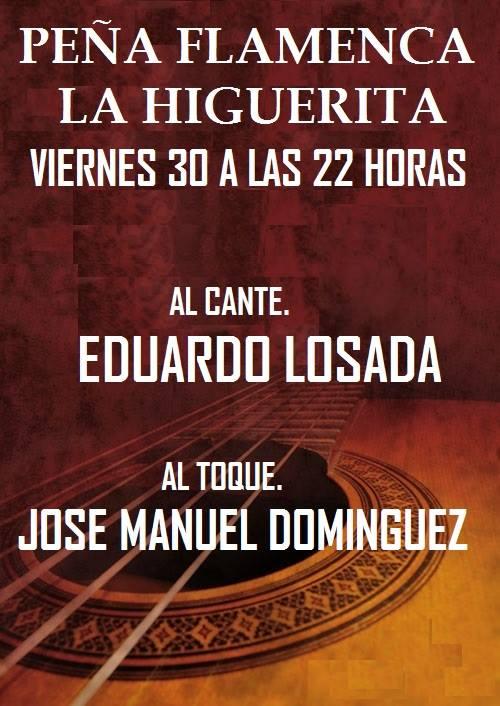 Actuación de Eduardo Losada en la Peña Flamenca La Higuerita