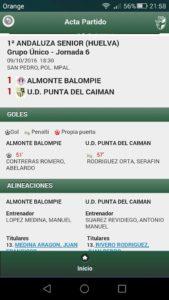 Valioso empate de la Punta en Almonte que le saca del descenso