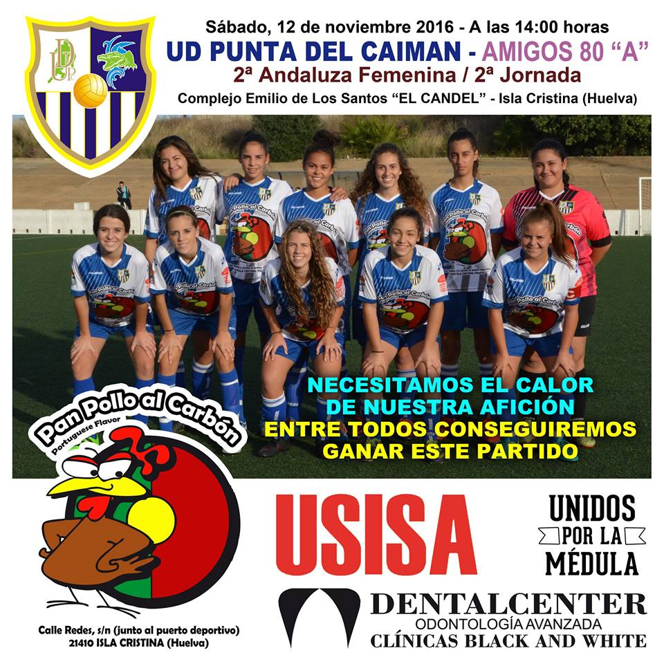 Debut en Isla Cristina de la UD Punta del Caimán femenino