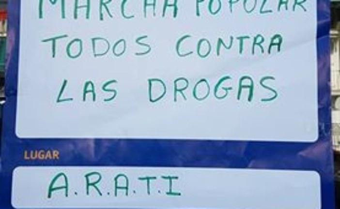 Marcha popular todos contra las Drogas en Isla Cristina