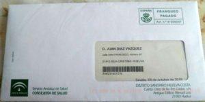 Avisan un vecino de Isla Cristina para una revisión de colon ya fallecido hace 39 años