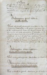 Isla Cristina. Documento del mes de noviembre. Diputado Provincial D. Diego Pérez Pascual