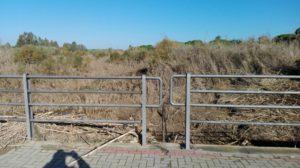 Vecinos de Aljaraque alertan del riesgo de transitar por el puente del arroyo de La Dehesa