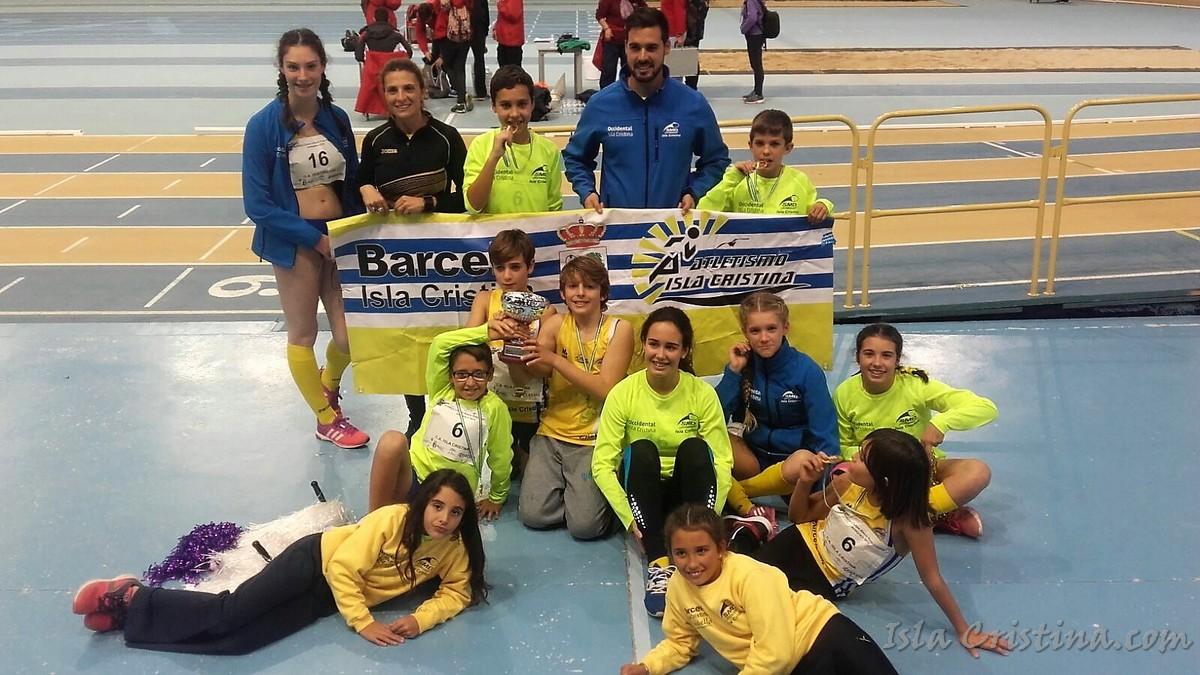 El Atletismo isleño en el II Control de invierno en Huelva