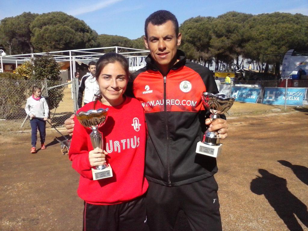 Rubén Simôes y Miriam Gómez ganan el Cross Pinares de Isla Cristina