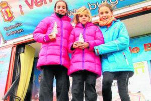Las hermanas Mayte y Cristina Jiménez y Eloisa González podios en Marbella